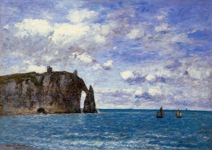 The Cliffs at Etretat by Eugene Boudin