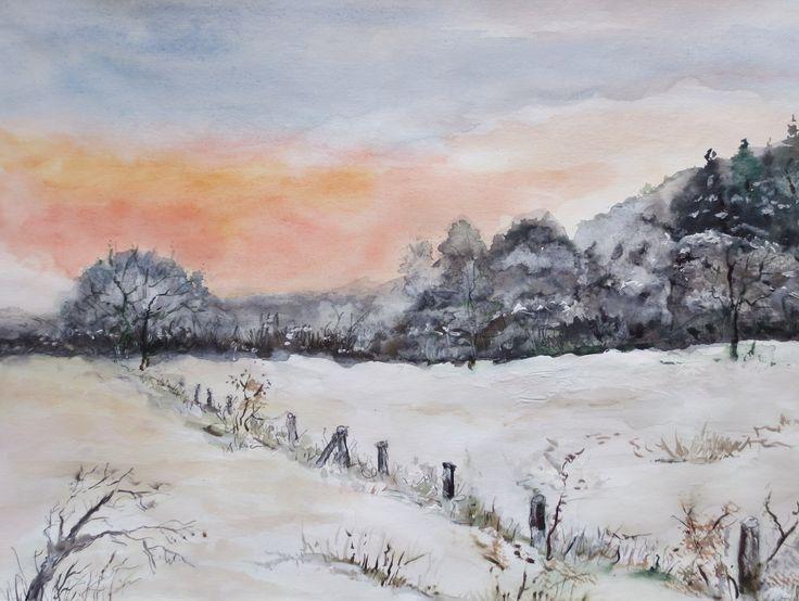 Winterlandschaft auf dem Darß