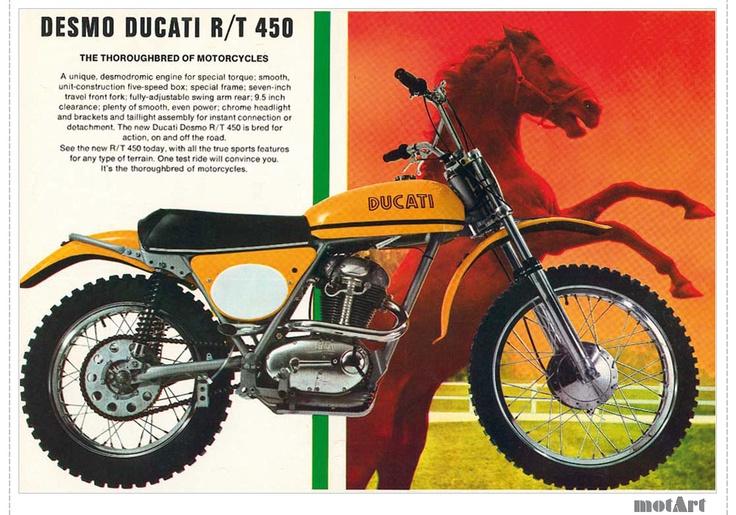 My Bike New in 1972 PAID 1200.00 Indestructible !  Ducati 450 RT 'America' Trail bike  - Me Want !!