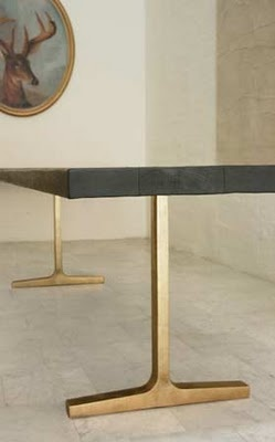 Beautiful Charred Wooden top on Bronze base