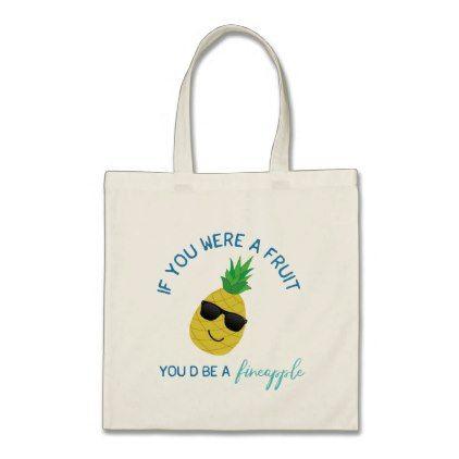 Pineapple Pun Tote - accessories accessory gift idea stylish unique custom
