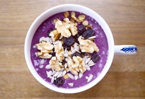 Kokos- og  blåbæryoghurt