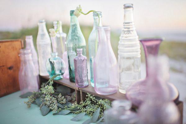 pretty hued vintage vases