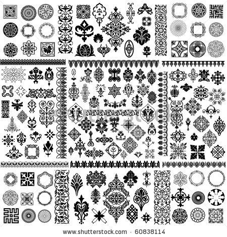 free vector vector pattern corner conventional black and white classic pattern vector simple and modern high resolution design for print web and more - Different Styles Of Design