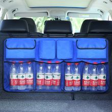 Oxford 600D Car Trunk Organizer Water Bottle Storage Bag Mesh Nets Double Thickening Universal Size Back Seat Hanging Pocket