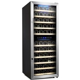 Shop for Kalamera Wine Cooler 73 Bottle Dual Zone Wine Refrigerator with Digital Temperature Display. Get free delivery at Overstock.com - Your Online Kitchen