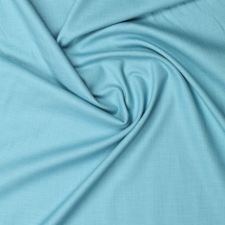 mint blauw stretch linnen