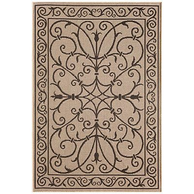 8 X 10 Beige Amp Black Scroll Design Patio Rug At Big Lots