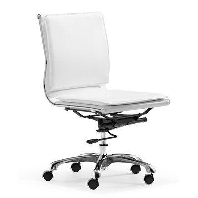 Zuo Modern 21521 Lider Plus Armless Office Chair