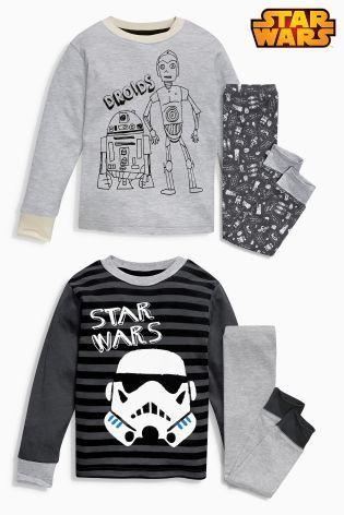 Kup dzisiaj online Dwie mięciutkie pidżamy monochromatyczne Star Wars™ w sklepie Next: Polska