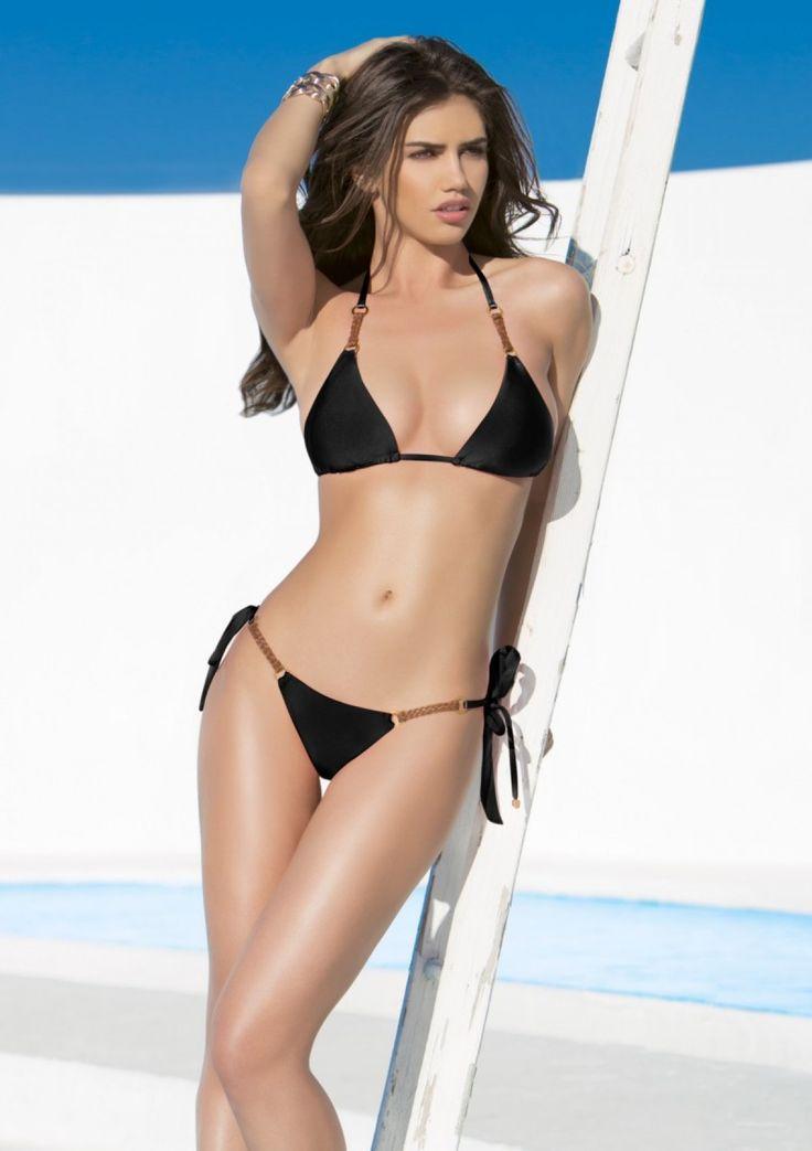 2015 Lady Lux Swimwear Black Counting Stars Bikini ...