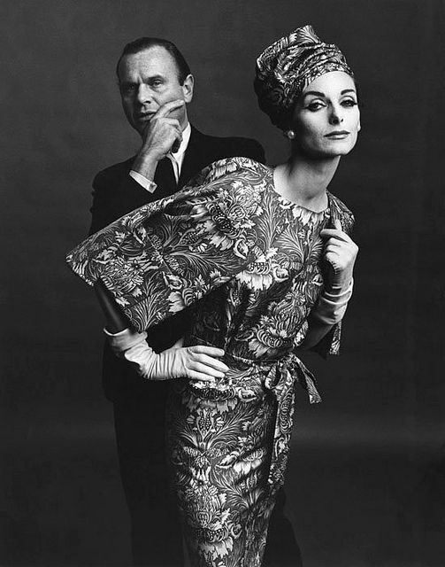Bill Blass and Anne St Marie