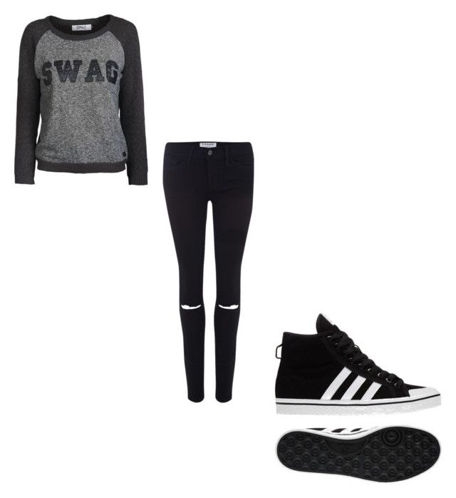 """""""#390"""" by aureeliet on Polyvore featuring ONLY, Frame and adidas"""