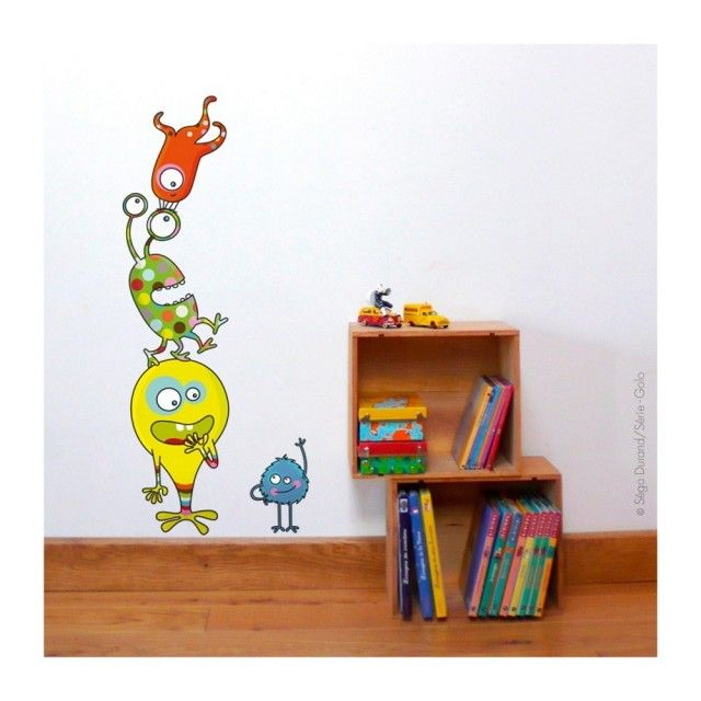 Barnabou Serie Golo Childs Kids Wall Sticker Monstreux Monsters #childrensbedroom #design #walldecal