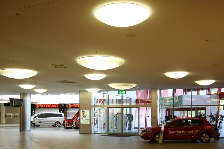 Mall ceiling made with Vecta Design stretch ceilings