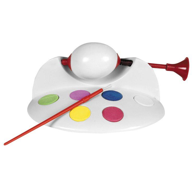 Eierverfmolen inclusief penseel en 6 kleuren waterverf.