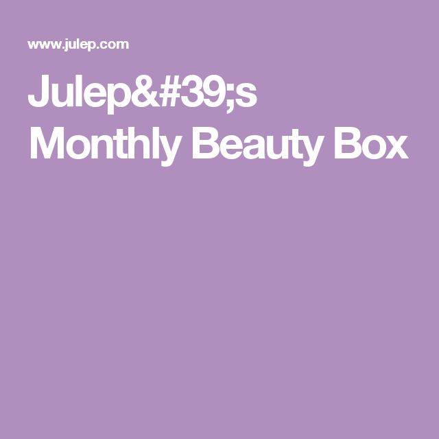 Julep's Monthly Beauty Box