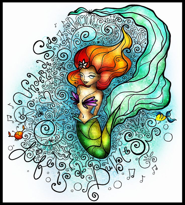 Life is de bubbles by mandiemanzano.deviantart.com on @deviantART: Disney Stuff, Disney Magic, Mandy Manzano, Mandiemanzano Deviantart Com, Mermaid Art, Disney Princesses, De Bubbles, Princesses Ariel, Stained Glasses