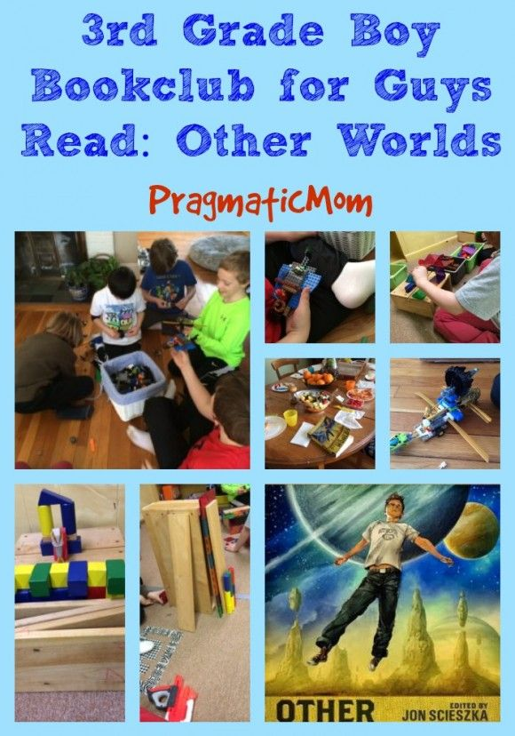 Try this idea to get boys reading! It worked for all of our boys!!  3rd Grade Boy Bookclub for Guys Read: Other Worlds :: PragmaticMom