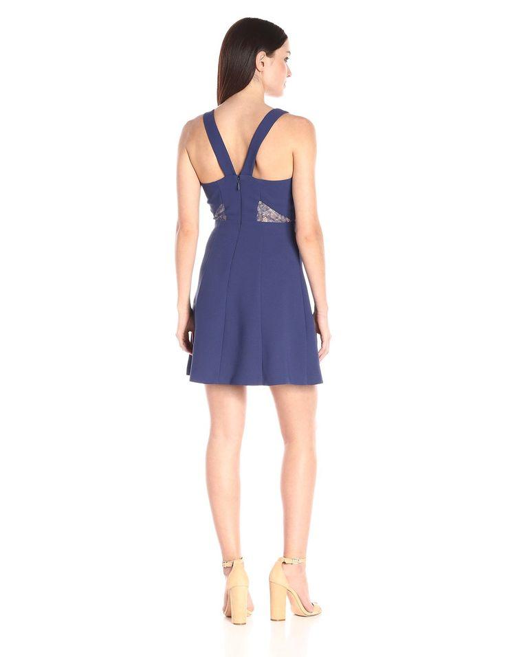 Amazon.com: BCBGeneration Women's V-Neck Fit and Flare: Clothing