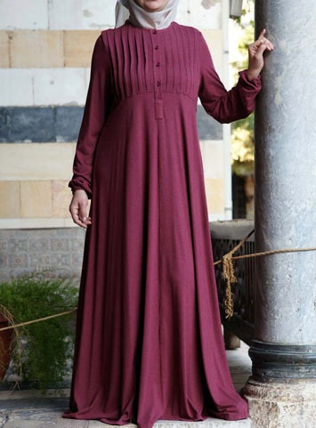 Abaya with Tucks via www.ShukrClothing.com