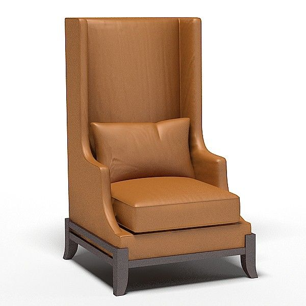 baker wing chair wingback high modern model available on turbo squid the worldu0027s leading provider of digital models for films television