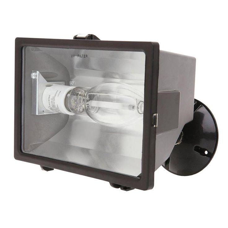 150-Watt Bronze Outdoor Flood Light with High Pressure Sodium Lamp Fixtures
