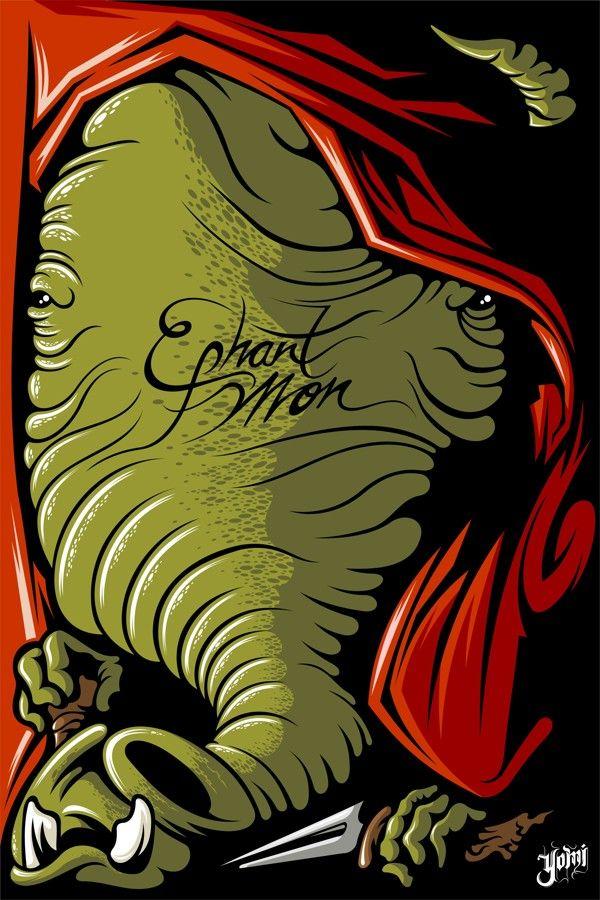 Ephant Mon (May the 4th be with you) Exposición by Elmer Sosa, via Behance
