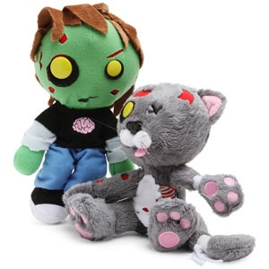 I'm going to let my nephew get a little older before giving him one of these plush zombie toys. So cute!