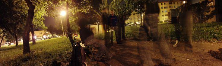 Summer night in Nowa Huta.