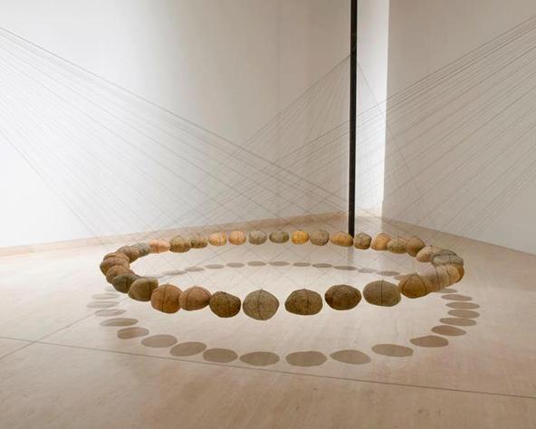 Ken Unsworth: 'Suspended stone circle'......http://www.pinterest.com/calamaridibosco/open-air-art/