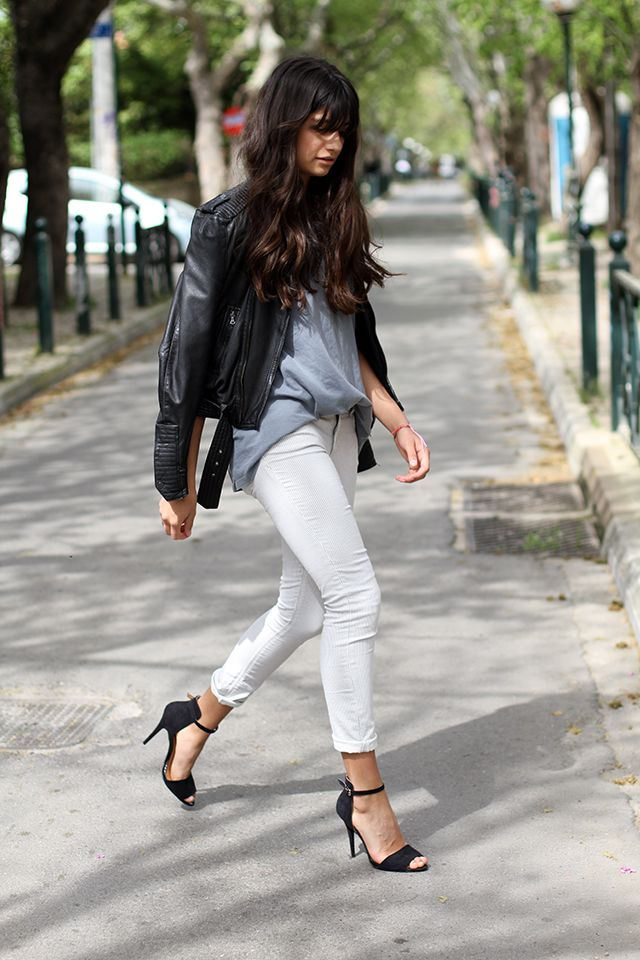 white jeans & heels | zara | by let's have a margarita...yes.