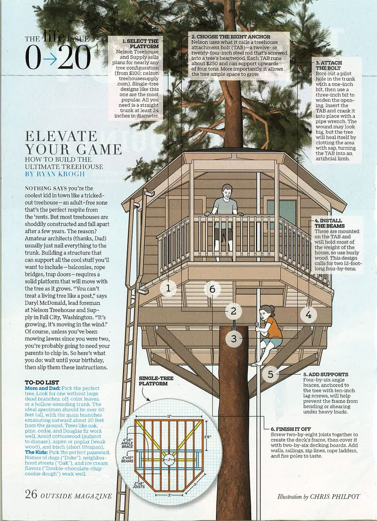 Building a treehouse right!
