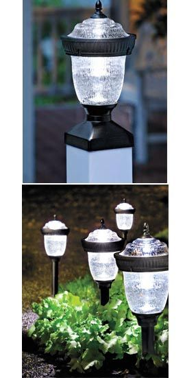 No cords, no hardwiring with Niagara Solar Post Light and Niagara Solar Pathlight Set. Instantly and easily dress up your yard! Solutions.com #Home #Yard