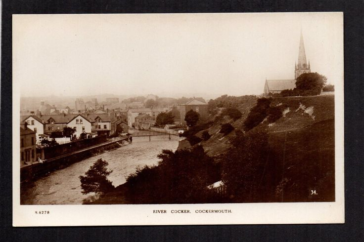 Cockermouth - River Cocker - real photographic postcard | eBay