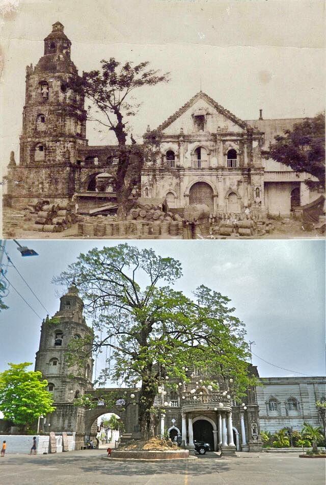 Francis Of Assisi Parish Church Location Poblacion Meycauayan Bulacan Philippines Wayback 1945 Th Old Church Cathedral Manila Tranformation Pinte