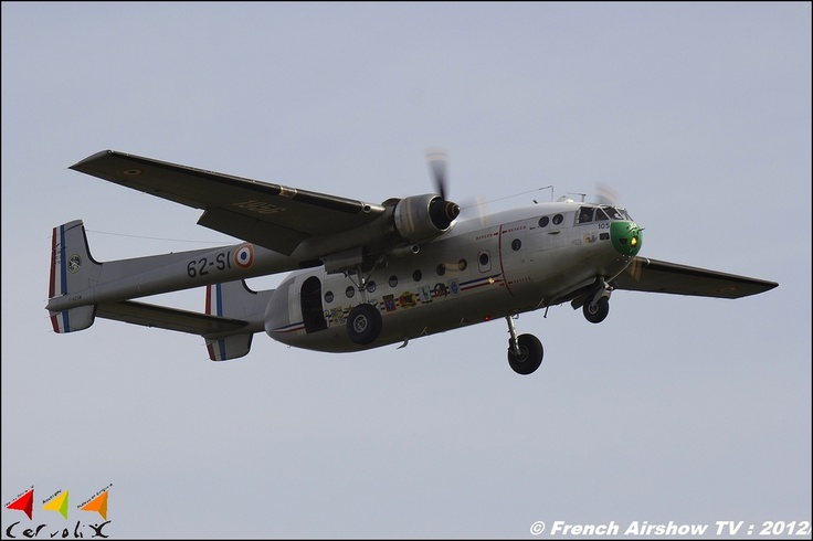 Nord 2501 Noratlas transport & para aircraft. Long serving workhorse of the French Armée de l'Air. This aircraft No105 is flown by Noratlas de Provence association, from Marignane, near Marseille.