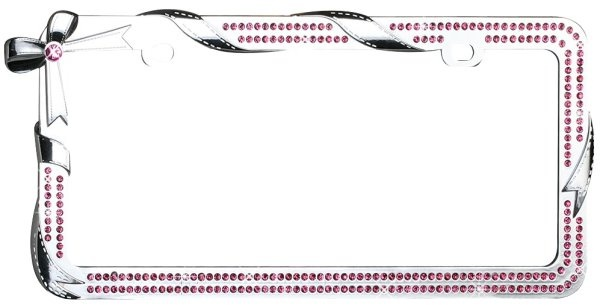 rhinestone license plate frame bow pink cars rhinestones and license plates