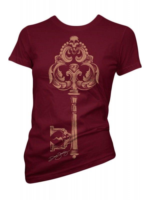 Cartel Ink Women's Lost Key T-Shirt - Wine