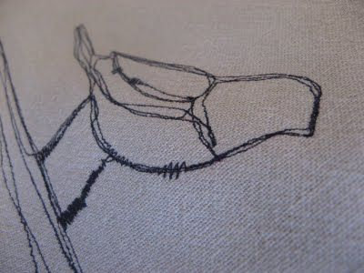 Thread sketching.  Not sure the of the application.  Seems like it could be challenging.  But looks pretty cool.