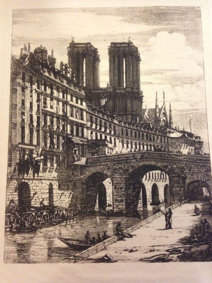 MERYON Charles, 1821-1868  Le petit pont, 1850 Gravures, monogrammée en haut à droite 26 x 19 cm - Rossini - 13/07/2015