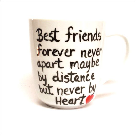 Best Friends State Mug - Going Away Gift, Long Distance Relationship, Going Away Present - Complete Customization Dishwasher safe on Etsy, $15.95