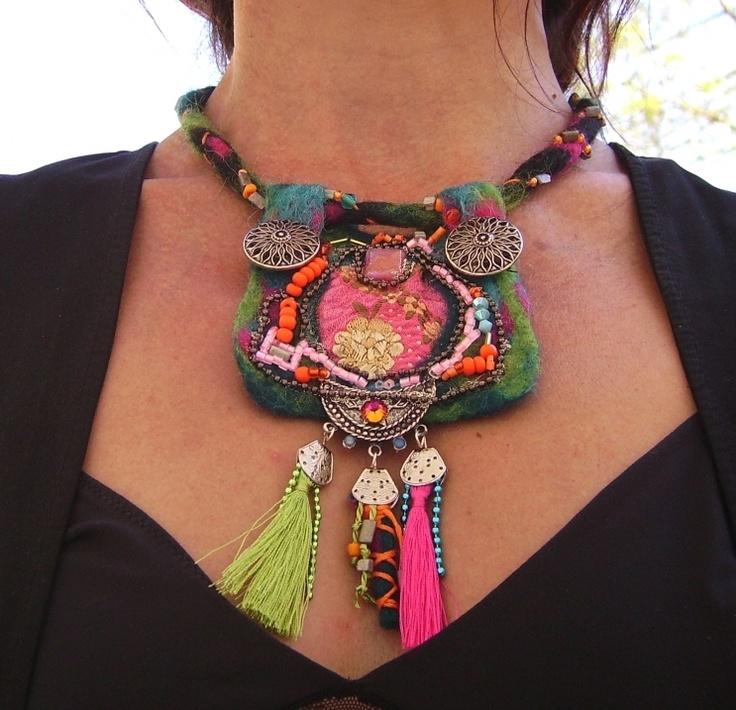 by dmyasha, www.alittlemarket.com Collier ethnique :\