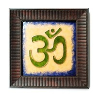 Decorative Wall Pieces,Made In India,Copper Enamel Om Wall Piece