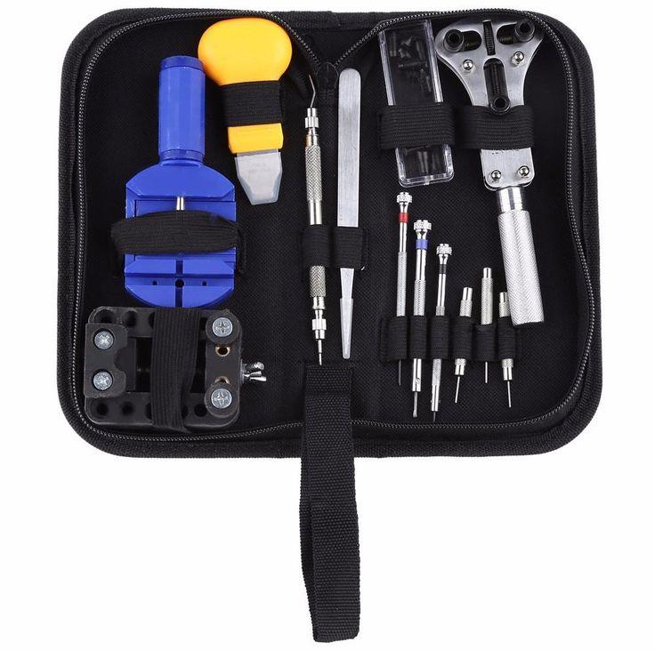 13pcs Watch Repair Tool Kits Watch Case Opener Link Spring Bar Remover Screwdriver Tweezer