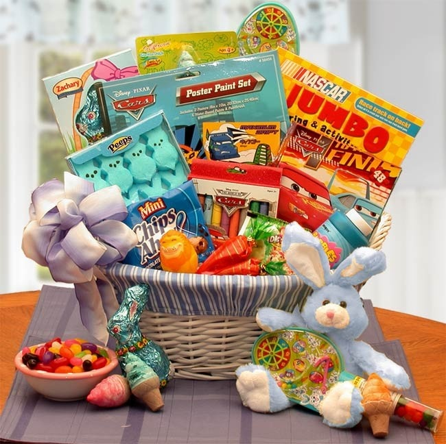 29 best easter gifts and baskets from la bella baskets fine gifts an easter gift basket designed for boys ages which features a combination of sweet treats and activities toys such as a maze game sidewalk chalk negle Images