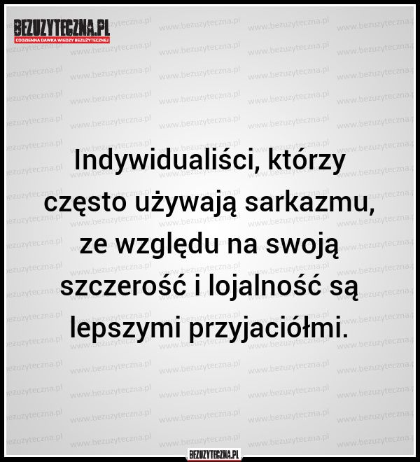 Indywidualiści, którzy często używają sarkazmu,… » Bezuzyteczna.pl- Codzienna…