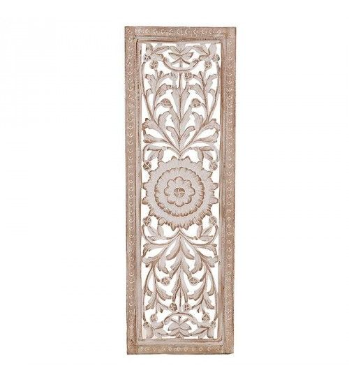 WOODEN WALL DECOR IN WHITE-BEIGE COLOR 40X3X120