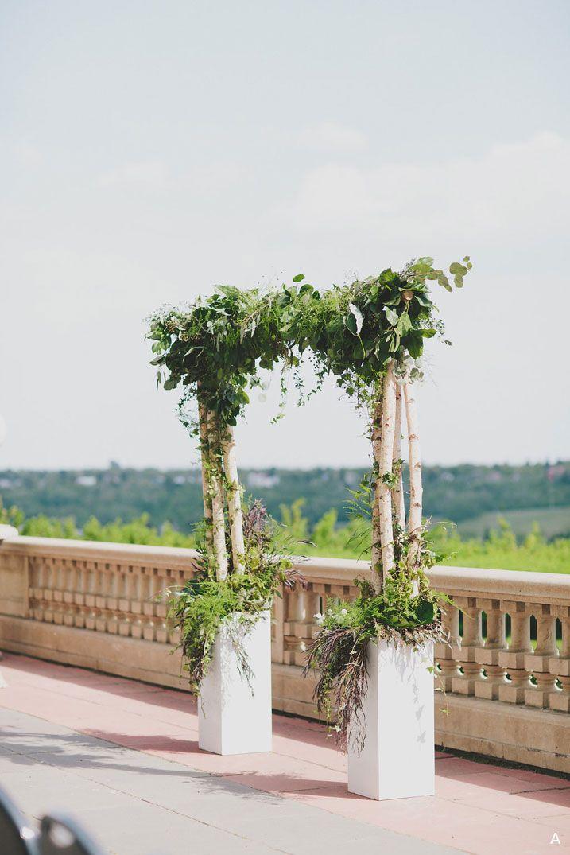 Rustic Romantic Weeding Ceremony Arch