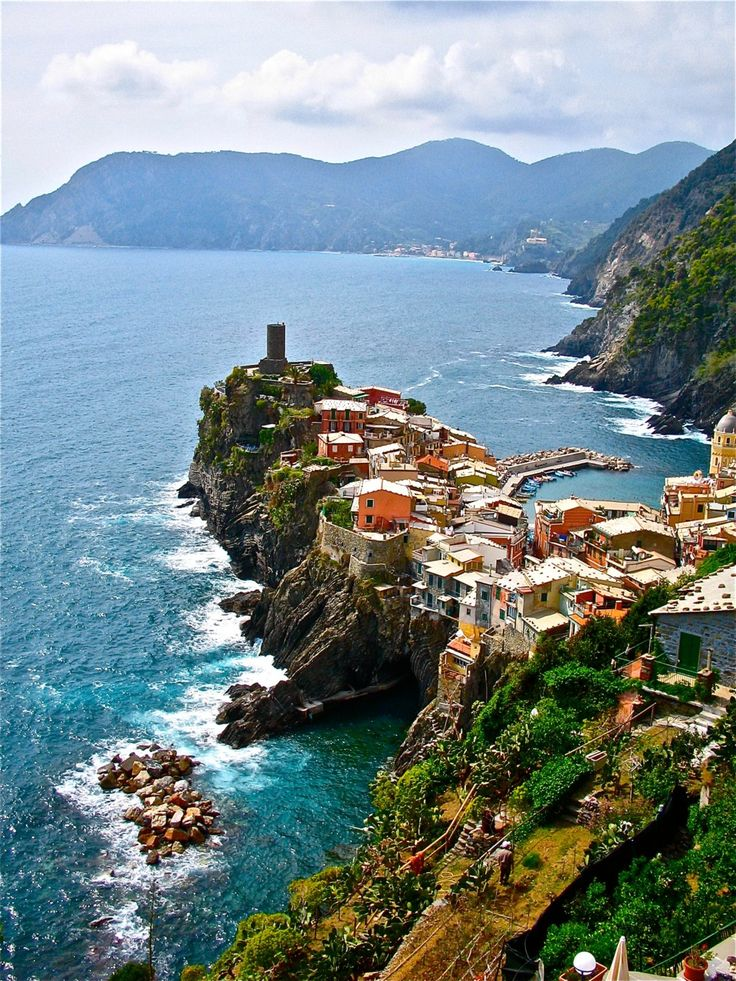 Rocky Village, Vernazza, Italy. Beautiful